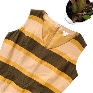 Fossil Striped Silk Blend Sleeveless Mini Dress